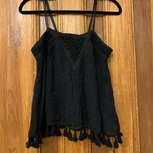 URBAN OUTFITTERS ECOTE Beaded Black Camisole